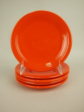 """Fiesta 6"""" Plate Group, 5 Red"""