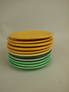 """Fiesta 6"""" Plate Group, 11 Mixed Colors"""
