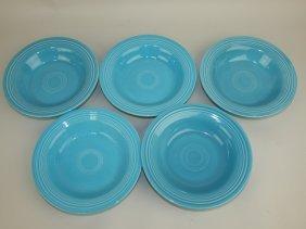Fiesta Deep Plate Group: 5 Turquoise