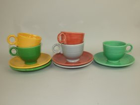 Fiesta Cup & Saucer Group: 5 Mixed Colors