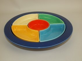 Fiesta Relish Tray, Cobalt Tray, All 6 Colors