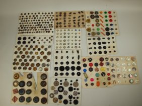 Lot of 12 cards of antique buttons
