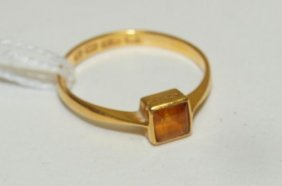 22kt yg antique ring with hallmarks, 1.6 DWT
