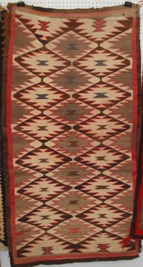 "Navajo Indian rug 38"" x 73"""