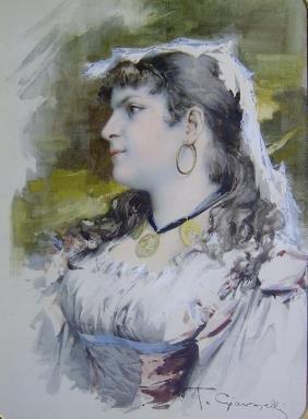 T. GIOVANELLI (italian 19th-20th Century) PORTRAI