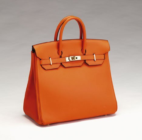 11514: Hermes Haut ¨¤ Courroie orange leather Birkin bag : Lot 11514