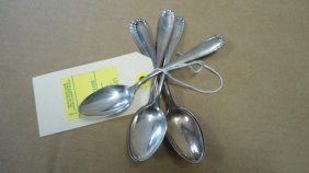 (5) Teaspoons, Sterling Silver, 3.37 Oz. Troy