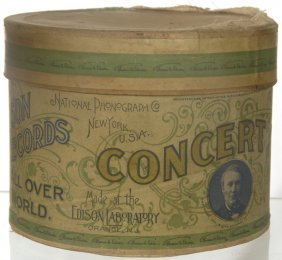 "ORIGINAL ""CONCERT"" SIZE PHONOGRAPH CYLINDER IN BOX"