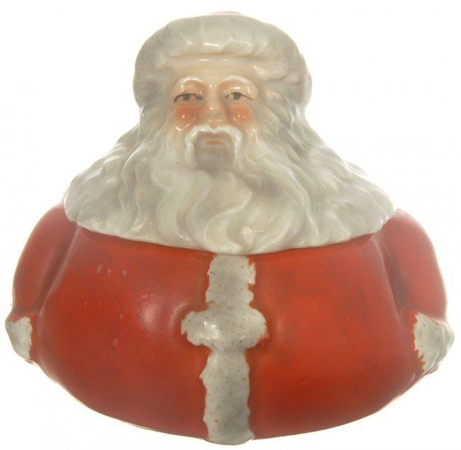 50b royal bayreuth figural santa claus covered box lot 50b