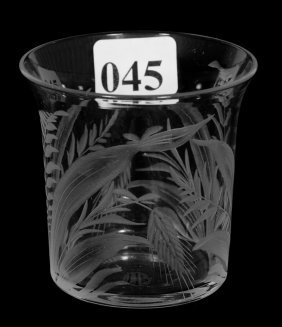 "Shot Glass - 2 1/4"" - Abcg - Signed Libbey"