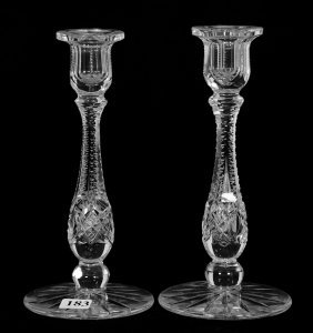 """Pair Candlestick Holders - 8"""" - Abcg - Signed J. Hoare"""