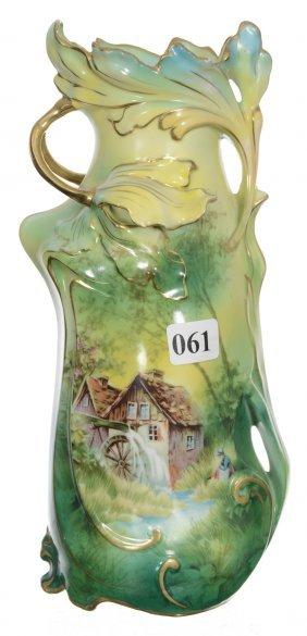 "9 1/4"" Royal Vienna Floral Mold Vase"