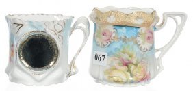 (2) Unmarked R.s.prussia Shaving Mugs