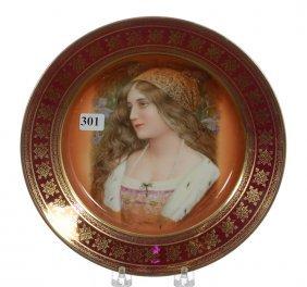 "9 1/2"" Marked Selb Bavaria Portrait Plate"