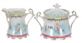 Unmarked R.s.prussia Creamer And Sugar
