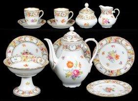 Ten Piece Bavarian Porcelain Tea Service