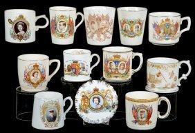 (12) Assorted English Coronation & Souvenir Items Of