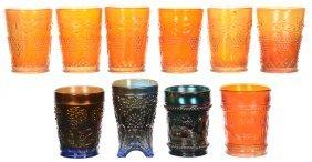 (10) Carnival Glass Tumblers