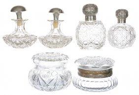 (6) Cut Glass Items