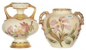 (2) Royal Worcester Vases