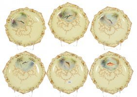 """(6) 9"""" Brown-westhead Moore & Company Fish Plates"""