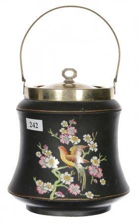 "6 3/4"" Marked Adams English Biscuit Jar"