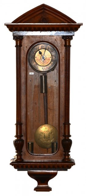 "46"" X 18"" German Regulator Wall Clock"