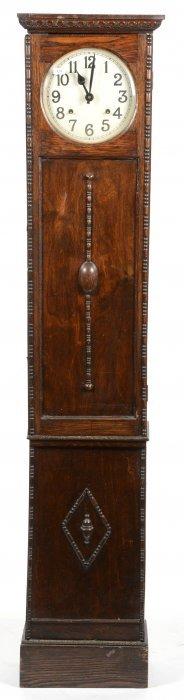 "59 1/2"" X 12 1/2"" Oak Case Grandmother Clock"