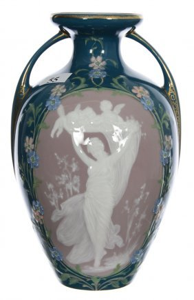 """8 1/4"""" Marked Germany Pate-sur-pate Porcelain"""