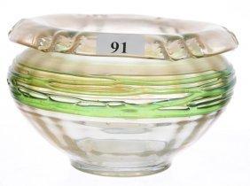 "3 1/2"" X 5 1/2"" Unmarked Loetz Style Art Glass Rolled"