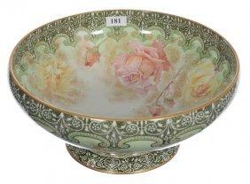 """4 1/2"""" X 10"""" Royal Doulton Pedestal Bowl - White With"""