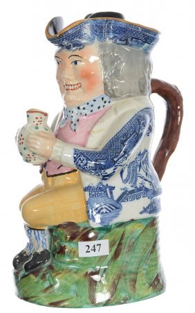 """9 1/4"""" Original Toby Pitcher With Lid - Man Wearing"""
