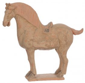 "13 1/2"" X 14 1/2"" Early Chinese Terra Cotta Horse -"