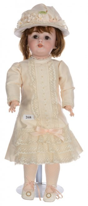 "16"" German Bisque Doll Marked ""c160-7"" - Composition"