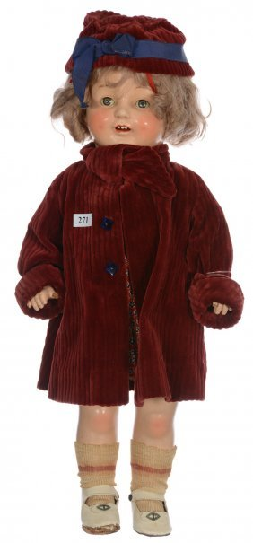 """19"""" Original Shirley Temple Composition Doll By E.i.h."""
