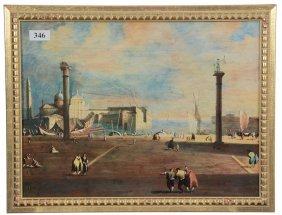 """9"""" X 12"""" Italian Ceramic Plaque - Classic Scene Of"""