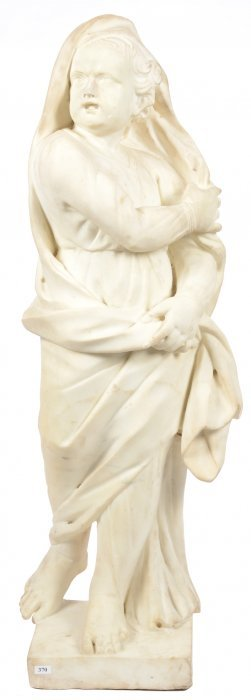 "41"" Early 17th Century Italian Marble Sculpture - Young"