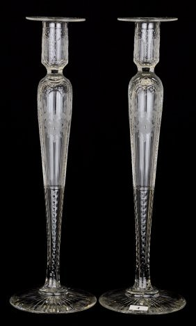 """Pair Candlestick Holders - 15 3/4"""" - Hampton Pattern By"""