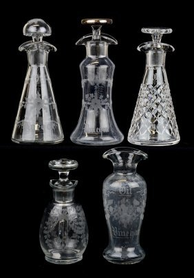 (5) Oil And Vinegar Bottles Including: