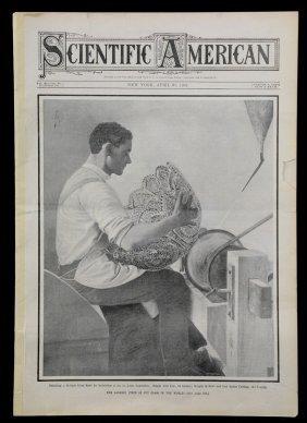 """Original """"scientific American"""" Newspaper Printed April"""