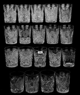 (19) Tumblers In Assorted Patterns Including:
