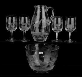 (6) Finely Engraved Items With African Motif