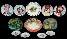 (12) Modern Assorted Plates Including