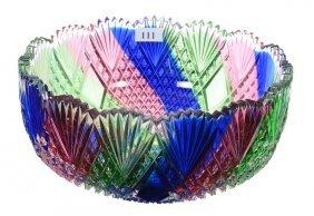 """Rare 3 3/4"""" X 8 1/2"""" American Brilliant Cut Glass Bowl"""