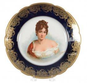 """9 1/2"""" Marked Haviland Limoges Portrait Plate"""