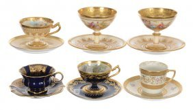 (6) Assorted Decorated Cups And Saucers Including