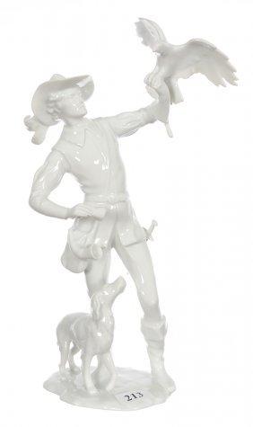 """10 1/2"""" Kaiser White Porcelain Figural Group"""