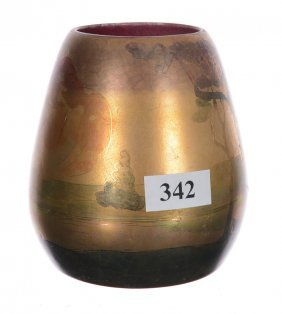 "3 3/4"" Signed Weller Lasa Art Pottery Vase"