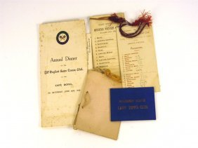 Five Early Tennis Club,  Dinner, Or Dance Items