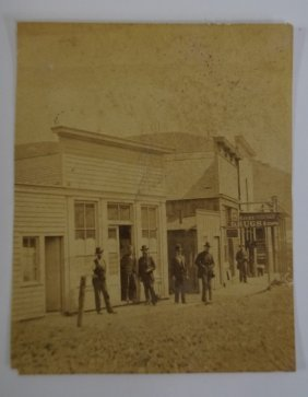 Album Photo Of 1860s Town Scene